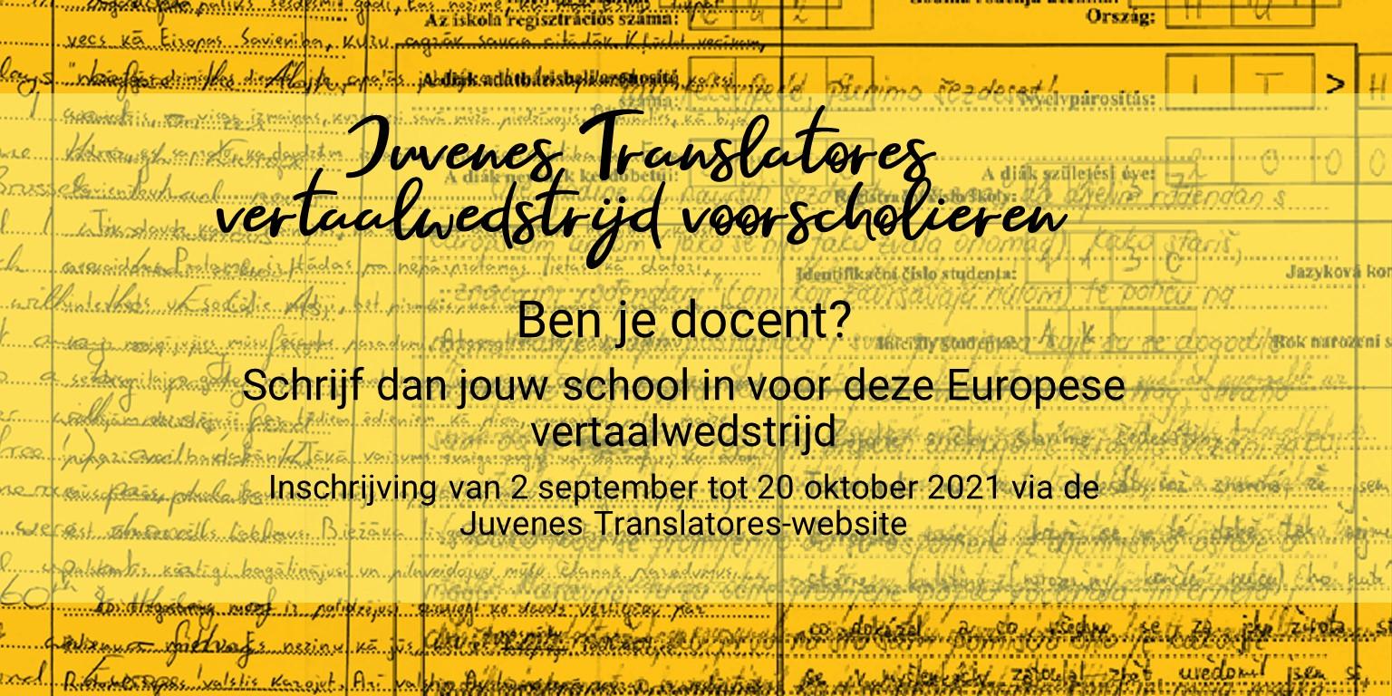 EU-vertaalwedstrijd voor leerlingen