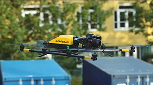 Drone ingezet voor onderhoud van gebouwen