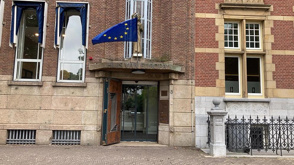 De ingang van het Huis van Europa