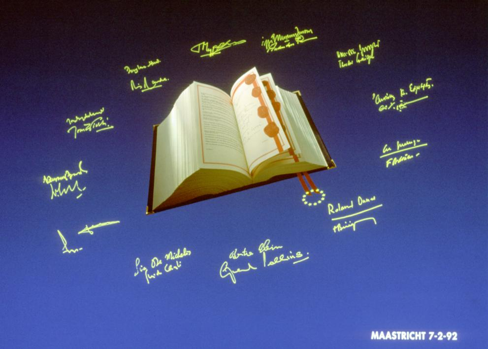 Het Europese verdrag dat in Maastricht is ondertekend