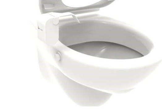 Met een op een toilet gemonteerd Medipee-apparaat kan urine eenvoudig thuis worden onderzocht.