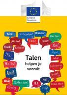 Cover brochure: Talen helpen je vooruit