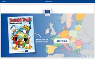 Online lesmateriaal bij digitale Donald Duck Europa special